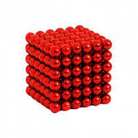 Неокуб NeoCube Цветной Красный [5мм * 216 шариков] + Металлическая Коробка в Подарок