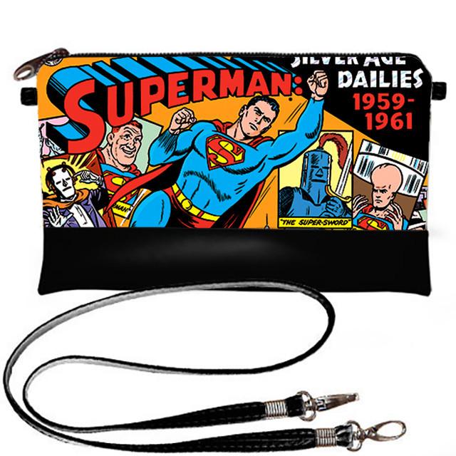 Клатч Moderika Lady черный с рисунком Герой Супермен (44197)