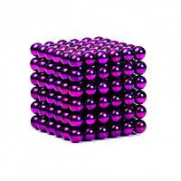 Неокуб NeoCube Фиолетовый [5мм * 216 шариков] + Металлическая Коробка в Подарок