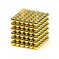 Неокуб NeoCube Золотой [5мм * 216 шариков] + Металлическая Коробка в Подарок
