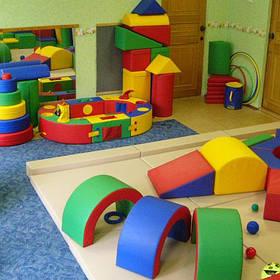 Модульні м'які конструктори,дидактичні модулі, гойдалки,тири,підлогові ігри,тунелі і кубики