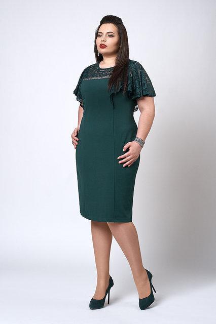Платье приталенное 552-1 цвет бутылочный