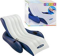 Пляжный надувной шезлонг для плаванья Intex 58868, белый (180 х 135 см)