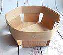 Высокая корзинка из шпона 90*90*30 мм, фото 2