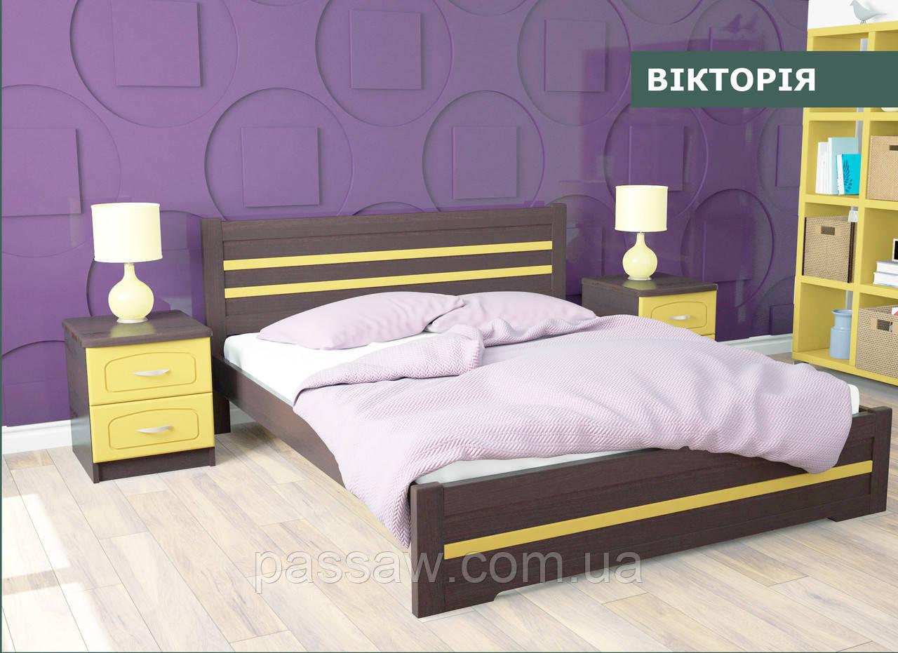 """Кровать деревянная """"Виктория"""" 1,8  ольха"""
