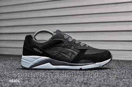 Мужские кроссовки Asics Gel Lyte Lique Black Gray White (Реплика), фото 2