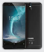 """Смартфон Uhans Max 2 4/64Gb Black, 13+2/13+2Мп, 6.44"""" IPS, 4300mAh, 2sim, MT6750T, 8 ядер, 4G (LTE), фото 1"""