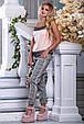 Красивая женская стильная майка-топ 2686 персик, фото 2
