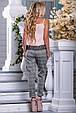 Красивая женская стильная майка-топ 2686 персик, фото 5