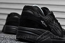 Мужские кроссовки Asics Gel Lyte Lique Triple Black (Реплика), фото 2