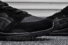 Мужские кроссовки Asics Gel Lyte Lique Triple Black (Реплика), фото 3