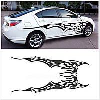 Виниловая наклейка на авто - на дверь узор абстракция 3 (цена за размер 35х150 см 1 шт. в комплекте 2 шт)