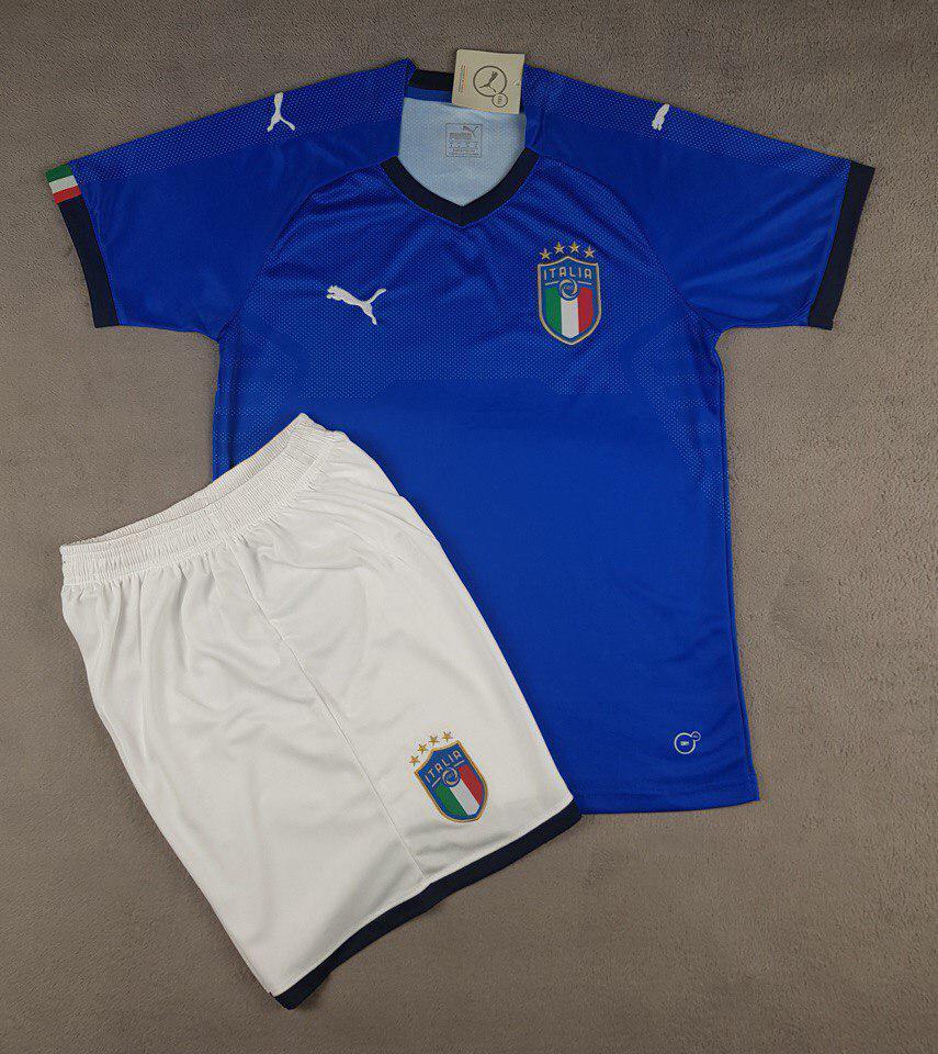 Футбольная форма национальной сборной Италия синий  сезон 2018