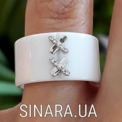 Серебряное кольцо с керамикой - Кольцо ювелирная керамика