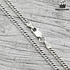 """Серебряная цепочка """"Ромбик"""", ширина 3 мм, длина 45 см, вес 5.45 г"""