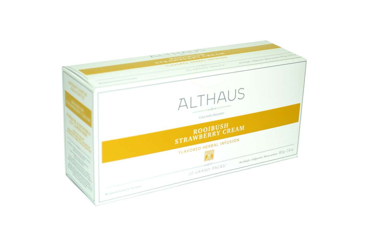 Чай Althaus Grand Packs Rooibush Strawberry Cream 20x4g(10)