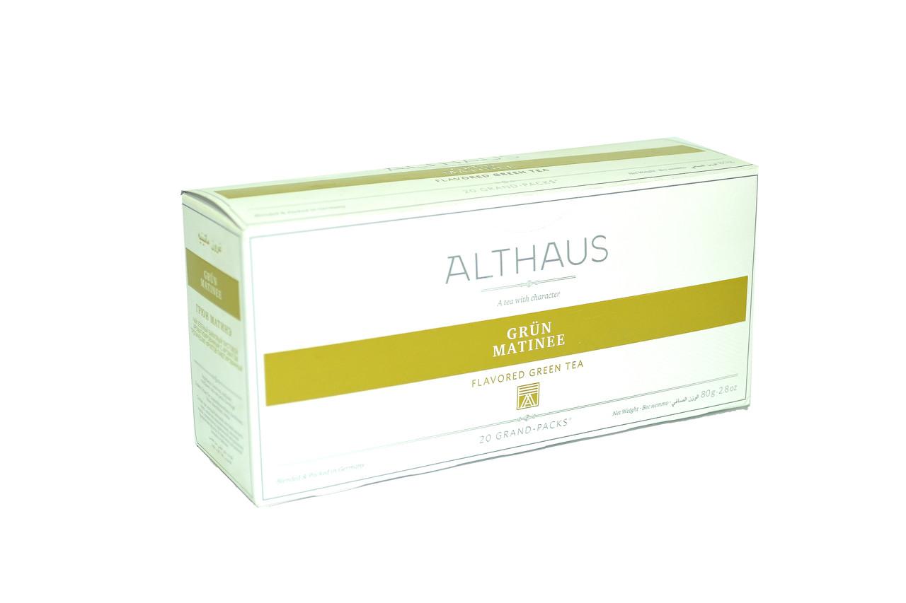 Чай Althaus Grand Packs Green Matinee 20x4g(10)