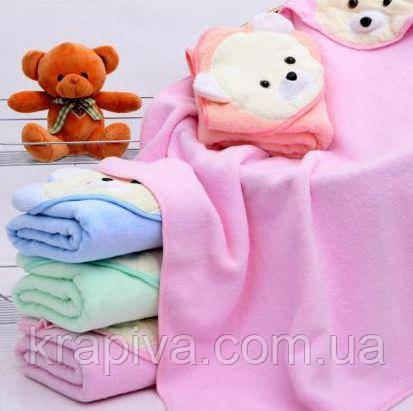Полотенце уголок для купания, простынь детская розовый