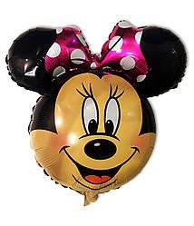 Фольгированный шар голова Минни Маус 70 см. С гелием