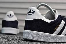 Мужские кроссовки Adidas Gazelle II Deep Blue (реплика), фото 2