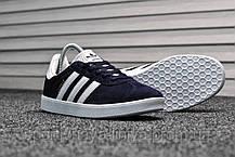 Мужские кроссовки Adidas Gazelle II Deep Blue (реплика), фото 3