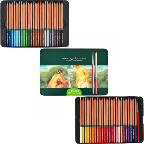 Карандаши цветные Marco Renoir 48 цветов FineART AQUA-48