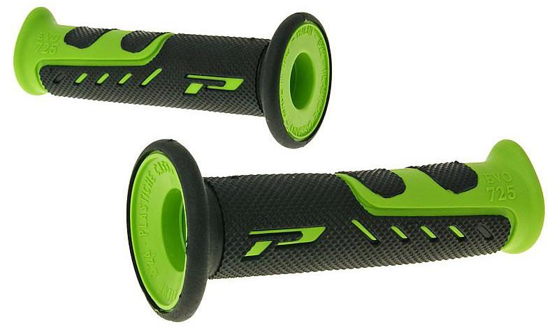 Рукоятки руля Pro Grip Duo density  PG 725 / GREEN, черно-зеленые