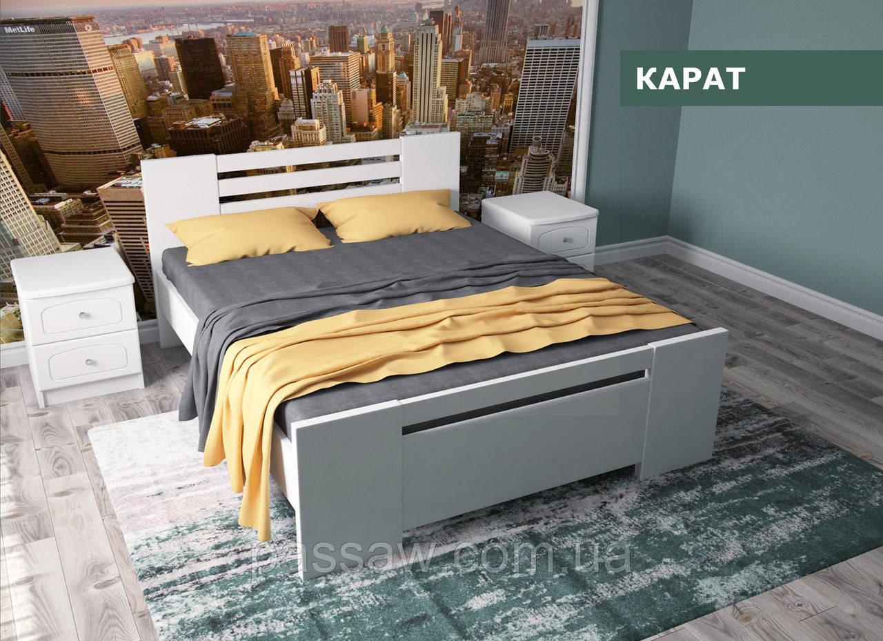 """Кровать деревянная """"Карат"""" 1,4 сосна"""
