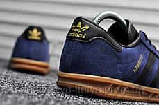 Мужские кроссовки Adidas Hamburg Navy Blue (реплика), фото 2