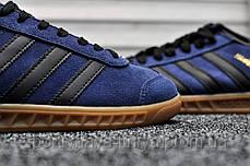 Мужские кроссовки Adidas Hamburg Navy Blue (реплика), фото 3