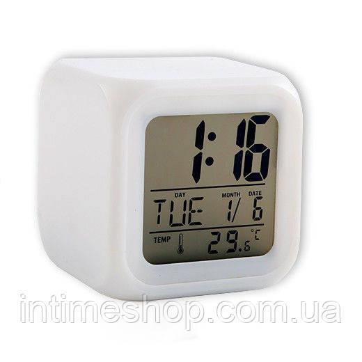 """Автомобильные электронные часы-хамелеон с подсветкой Glowing LED Color Change   - Интернет-магазин """"Интаймс"""" в Одессе"""