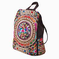 Женский маленький рюкзак-сумка с вышивкой