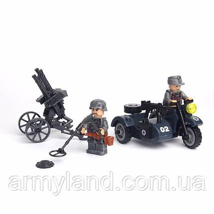 BMW R 75 c Зенитной установкой, военный конструктор, аналог лего, BrickArms, фото 2