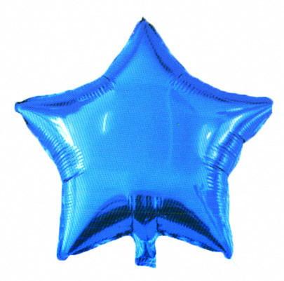 Фольгированный шар Звездочка синяя 45 см. С гелием