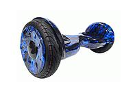 "Гироборд ( Гироскутер ) 10.5"" X ELITE LUX № 37 Синие Пламя LEDс ручкой ( EL-Х-10.5р-37 )"