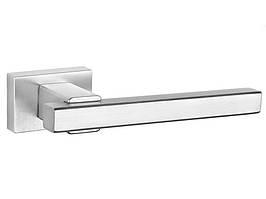 Ручка дверная на розетке Tupai PRISMA 1921RT хром матовый (Португалия)