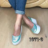 Кожаные туфли на maxi платформе хамелеон, фото 1