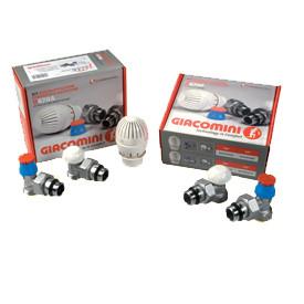 Купить Кран термостатический угловой 470А 1/2 Giacomini (комплект)