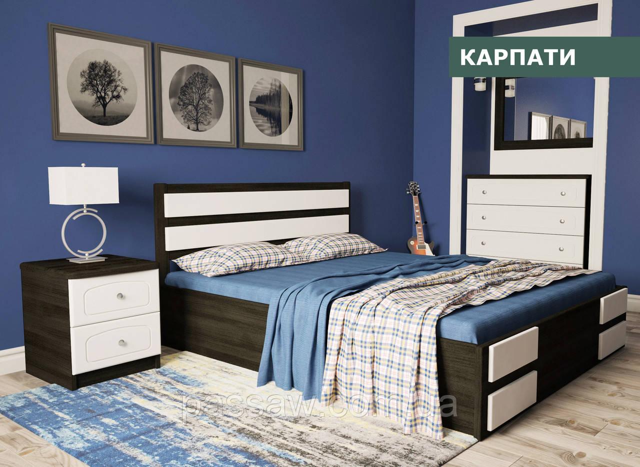 """Кровать деревянная """"Карпаты"""" 1,2 сосна"""