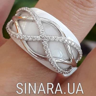 Срібне кільце з ювелірною керамікою - Кільце з керамікою срібло 925