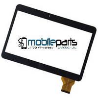 """Оригинальный Сенсор (Тачскрин) для планшета 10.1"""" YCG-C10.1-182B-01-F (240x162 мм, 50 pin) (Черный-Самоклейка)"""