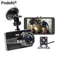 """А9 HDR Full HD 4.0"""" сенсорный(2 камеры) видеорегистратор"""