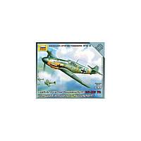 Немецкий истрелитель мессершмитт BF-109F2 (сборка без клея). 1/144 ZVEZDA 6116