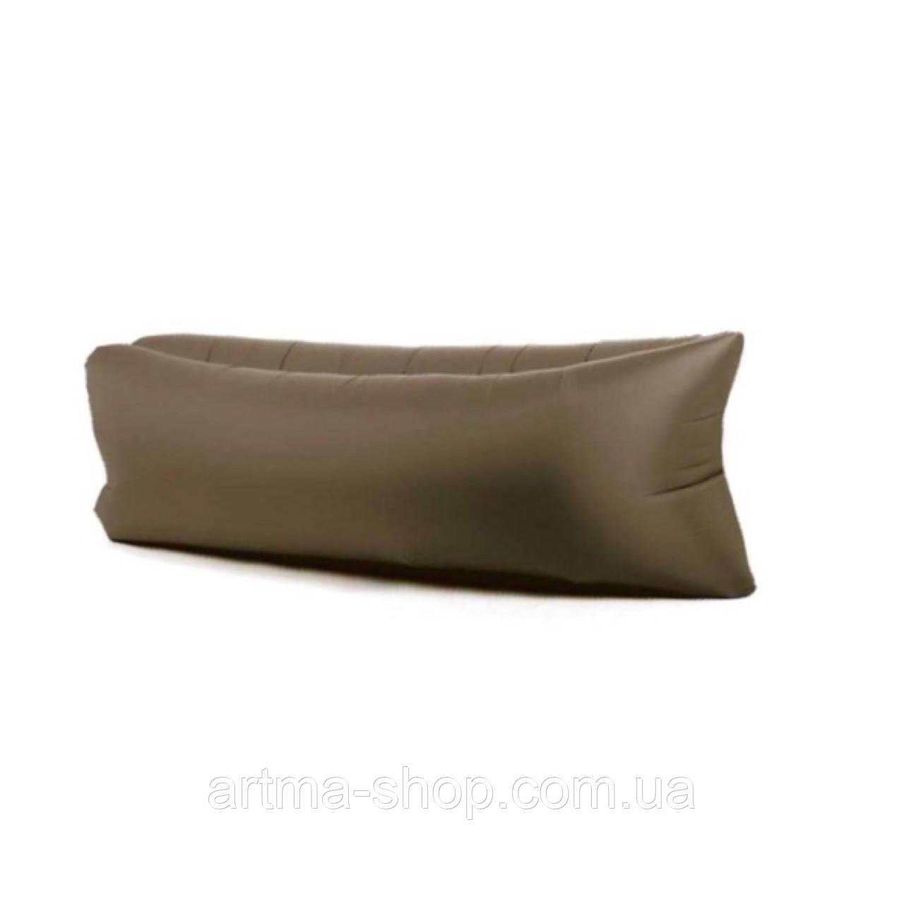 Шезлонг надувной Ламзак Коричневый , 240 * 70 см, поліестер, Надувний Ламзаки, Надувний диван.