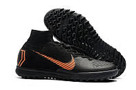 Сороконожки Nike MercurialX Vapor XII Elite TF Black