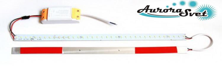 Комплект линеек smd 2835 для замены тубов 14w, 500 мм. Для замены светильника.