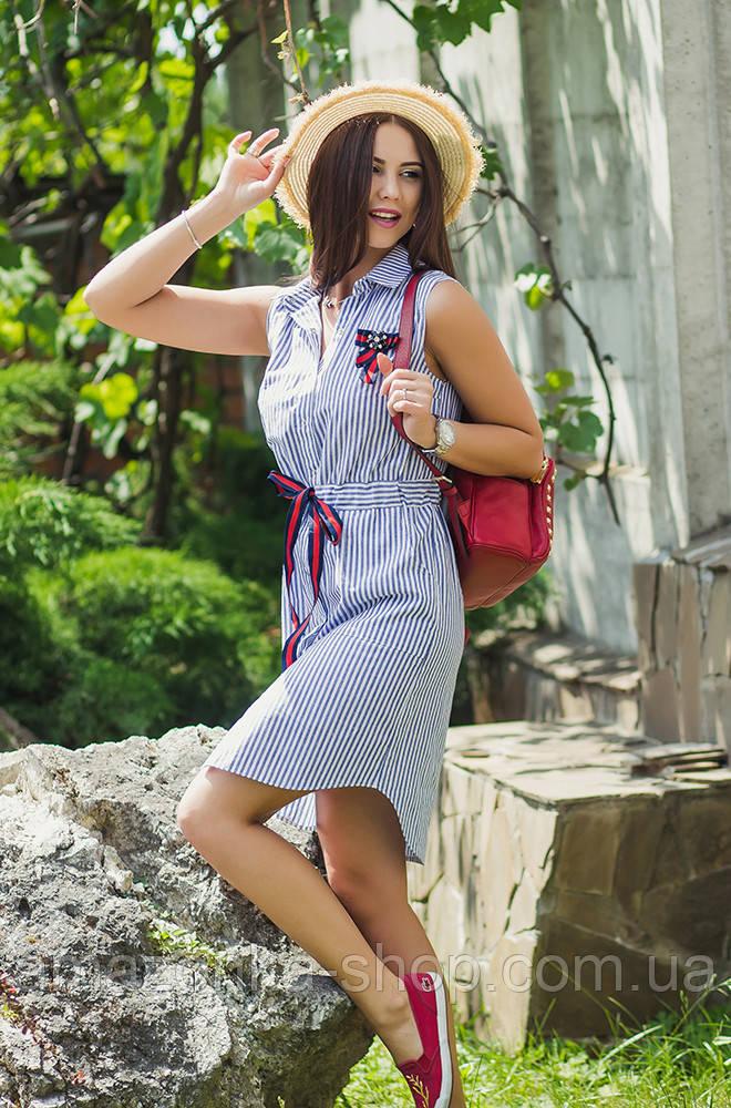Женское легкое морское платье 2018 - Арт пл-244