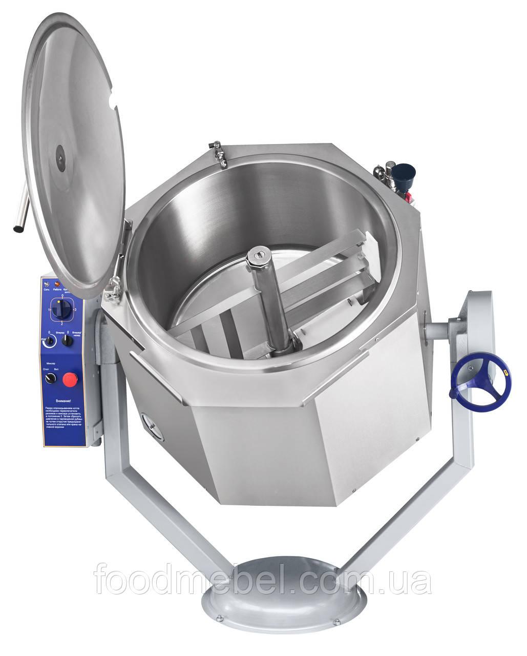 Котел пищеварочный Abat КПЭМ-100-ОМР опрокидывающийся с функцией перемешивания