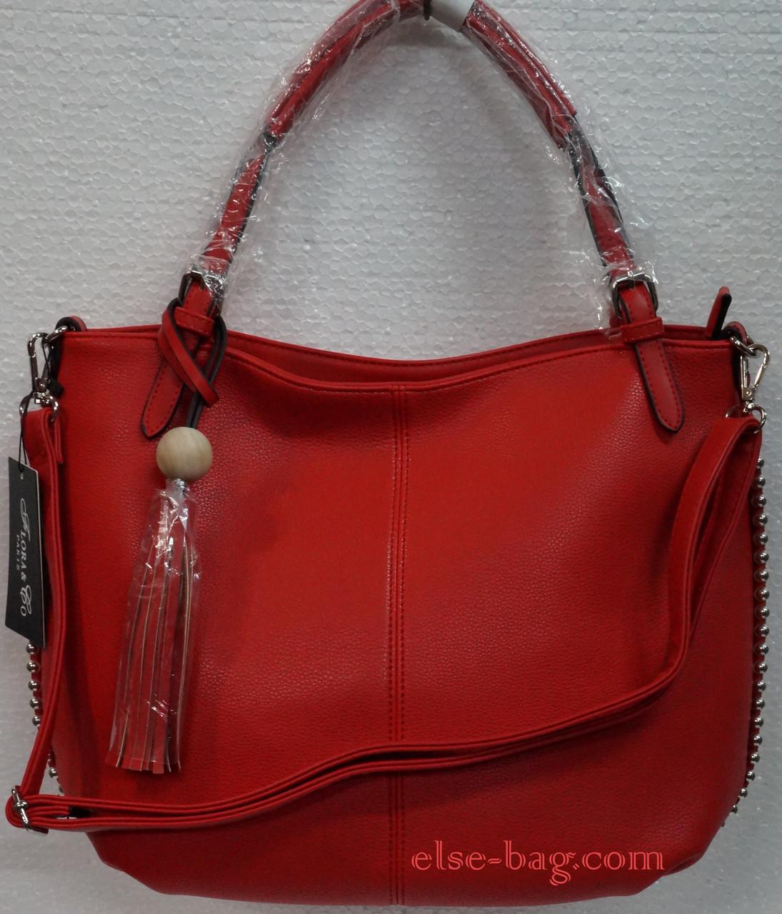 493960679144 Мягкая женская сумка с бусинками -
