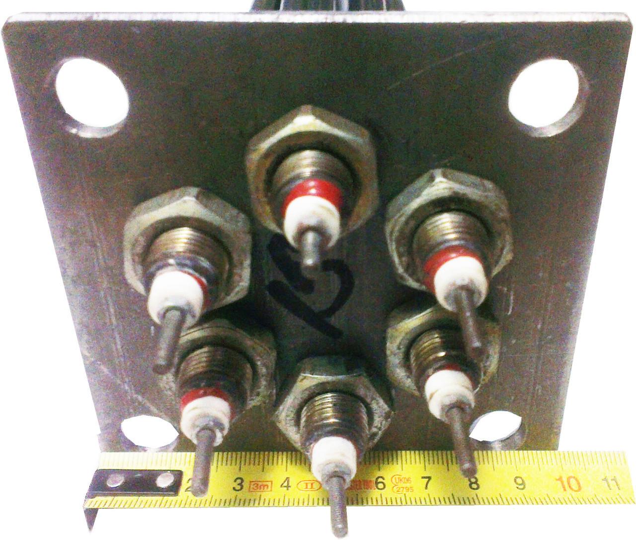 Блок тэнов 6 кВт для котла Титан на крепёжном фланце 100\100мм со съёмными тенами